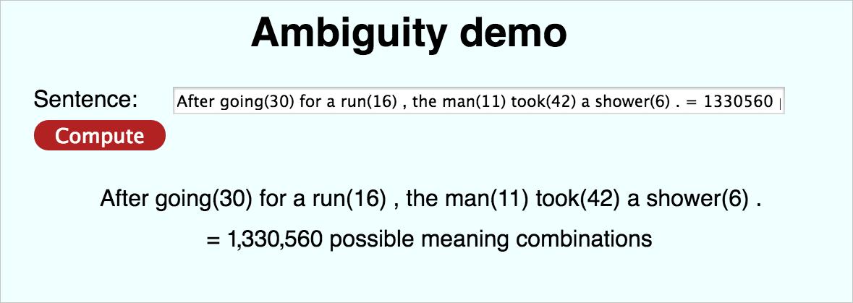 Ambiguity Demo