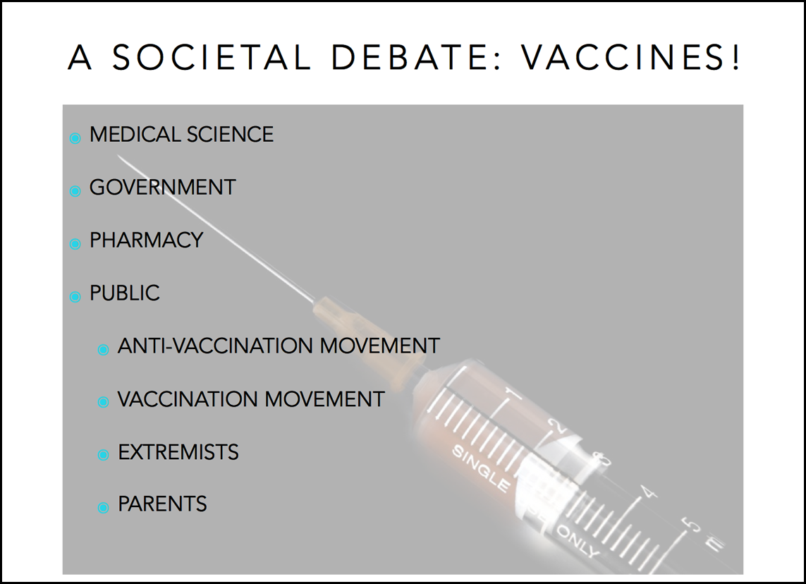 """A Societal Debate: Vaccines!"" Piek Vossen at the Lustrum conference 'Connected World' March 2016"
